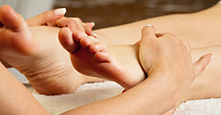 Feet relaxing massage